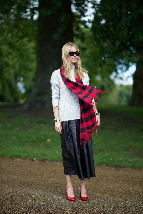sweater-skirt-and-tartan-scarf via