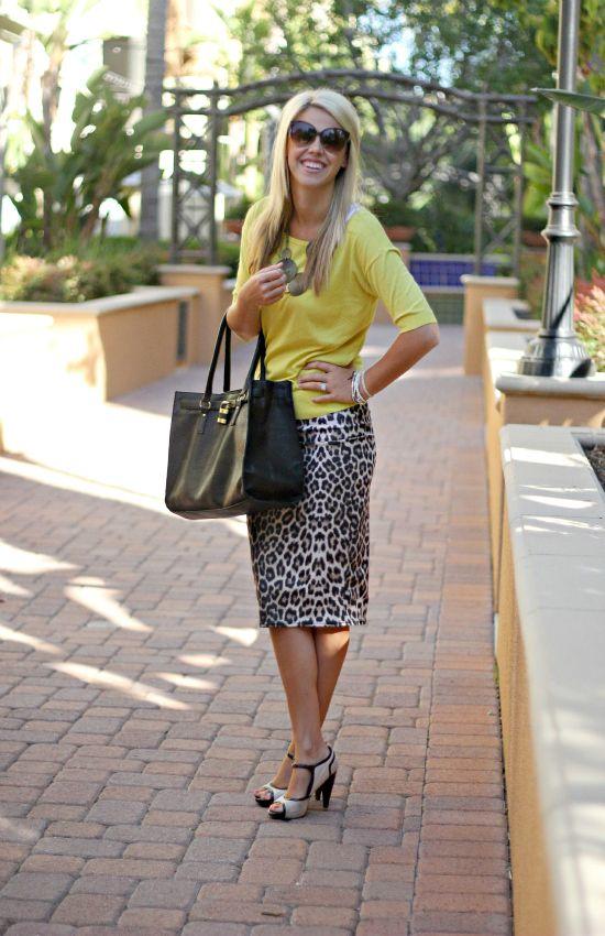 yellow-top-and-pencil-skirt via