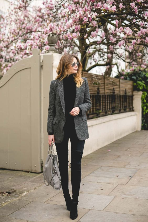 black-turtleneck-and-grey-jacket via