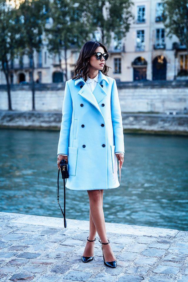 blue-coat-and-strap-heels via