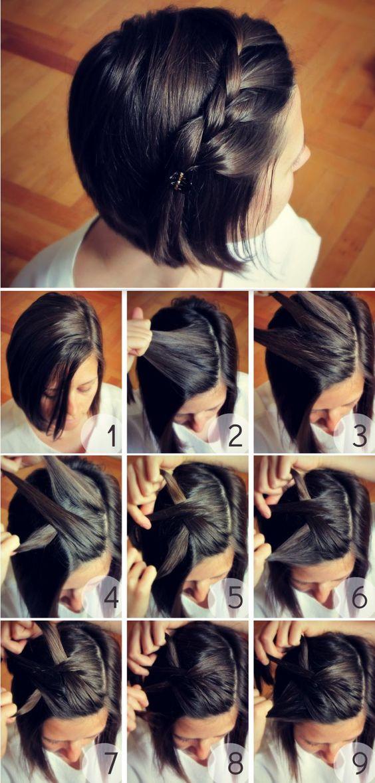 braided-bang-for-short-hair via