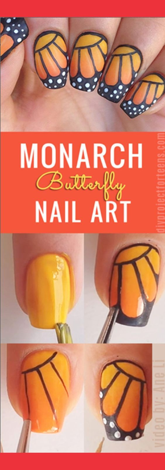 butterfly-nail-art via