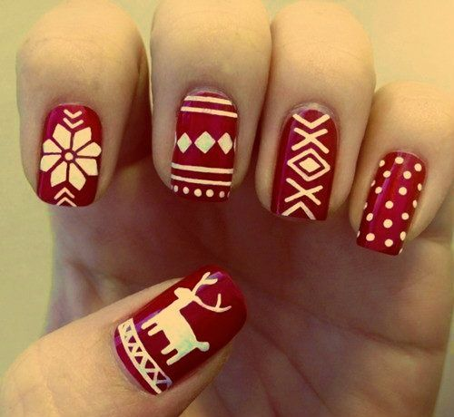 christmas-theme-nails via