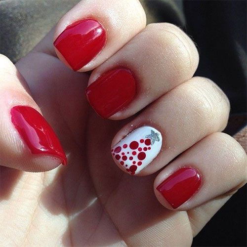 cute christmas nails via