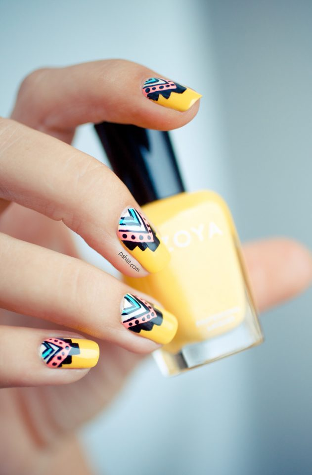 cute-mustard-nails via