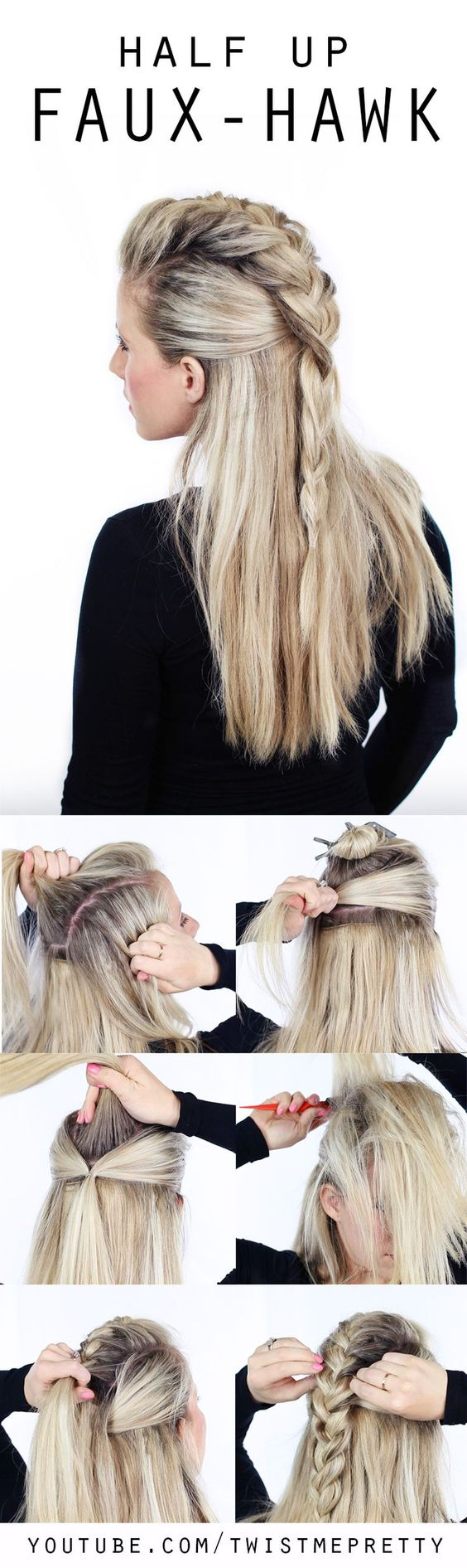 faux-hawk-inspired-half-up-hair via