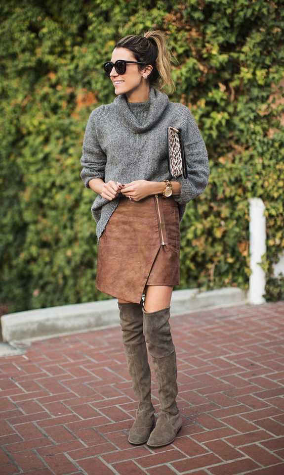 grey-sweater-uneven-skirt-and-knee-high-boots via