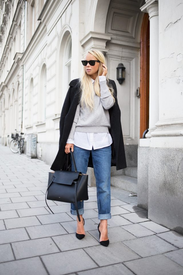 grey-sweater-white-shirt-and-crop-pants via