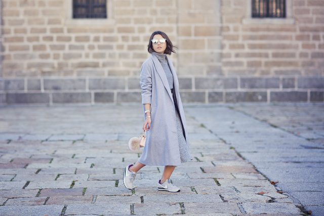 grey-sweater-and-grey-trench-coat via