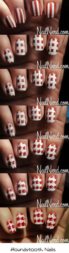 houndstooth-nails via