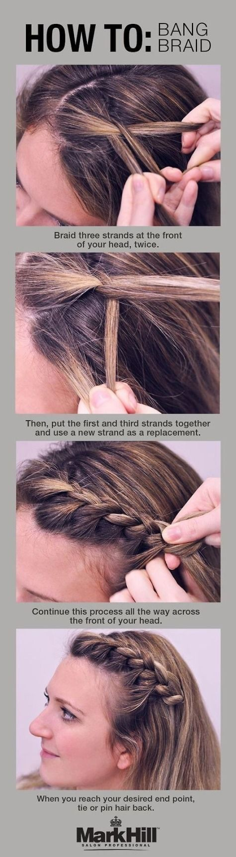 Cute Way To Pin Back Bangs T
