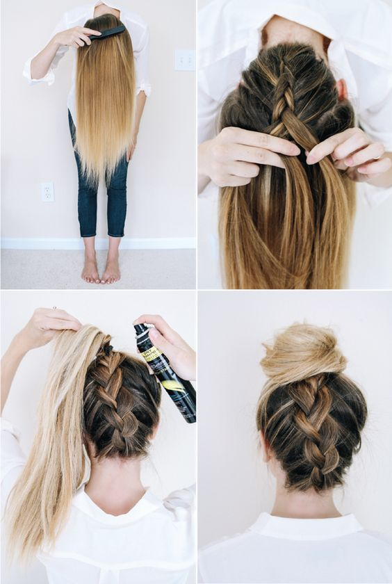 Lace Up Braided Bun Via