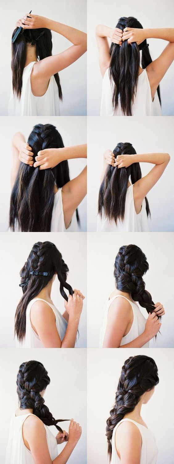 mermaid-braid-for-brunette via