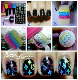 ombre-stamping-nails via
