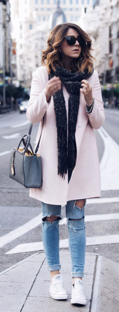 pastel-coat-and-glitter-scarf via