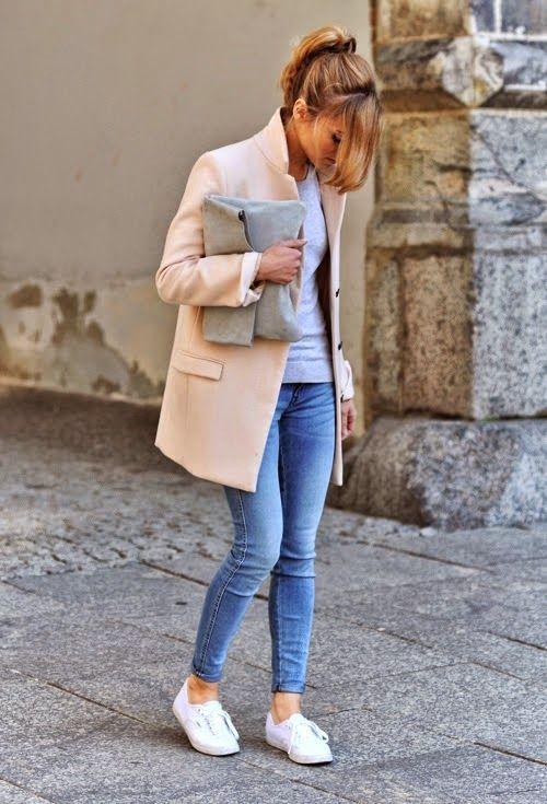 peach-coat-and-simple-basic via