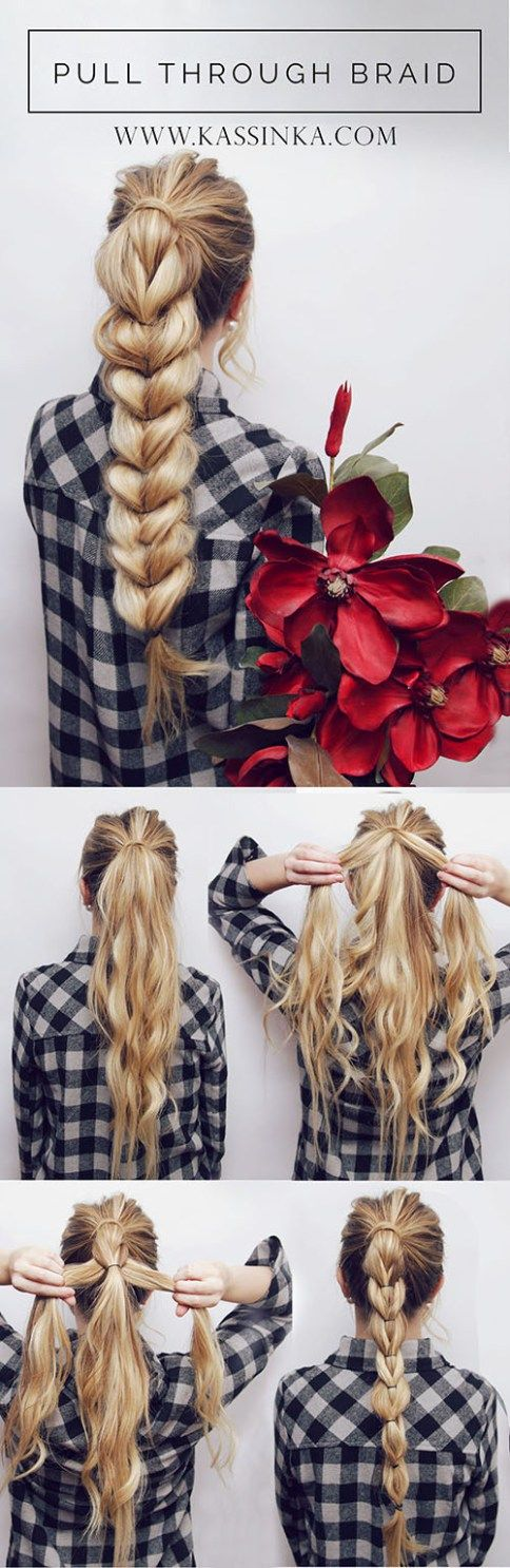 pull-through-braid via