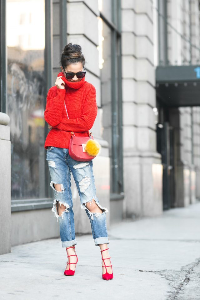 red-turtleneck-and-ripped-jeans via