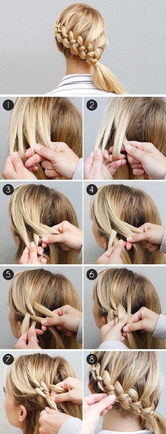 Hairstyles Step By Step step by step different style braids tutorials Side Braided Ponytail Via