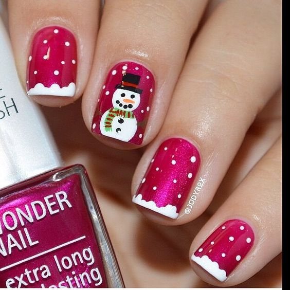 snowman-nails via