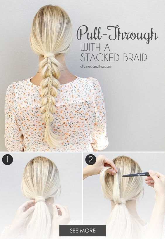stacked-braid via