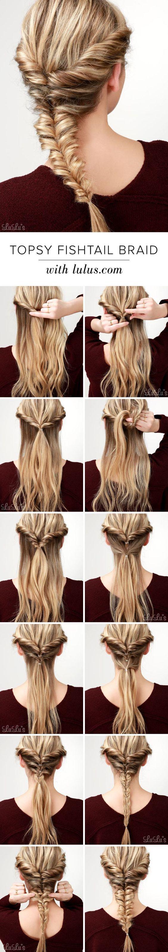 12 vlecht tutorials die je moet kennen voor het seizoen Kapsels  Vlechtkapsellessen Video gaming Video games Tail hairstyles French braid fashion braid bangs