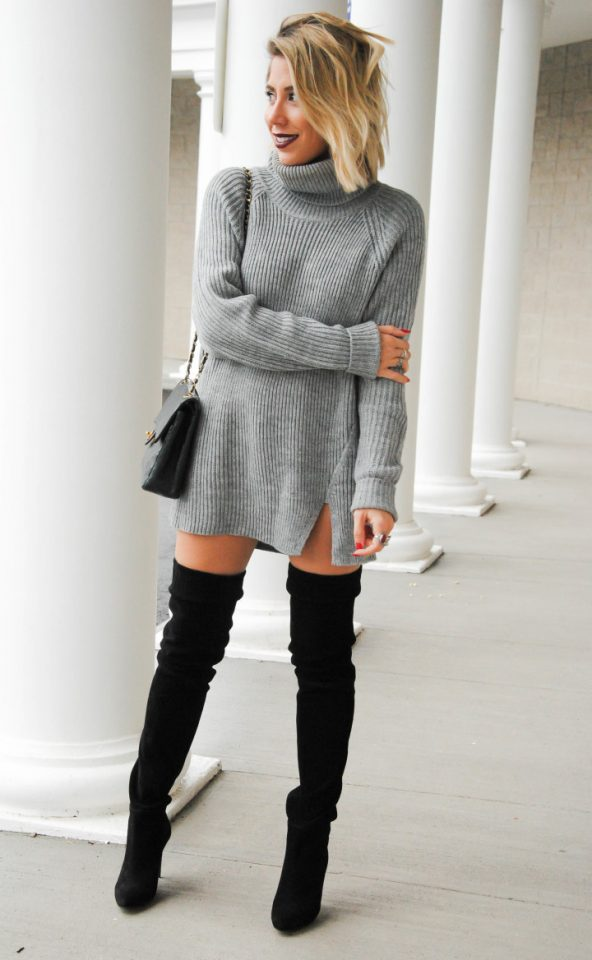 turtleneck-sweater-dress-and-black-boots via