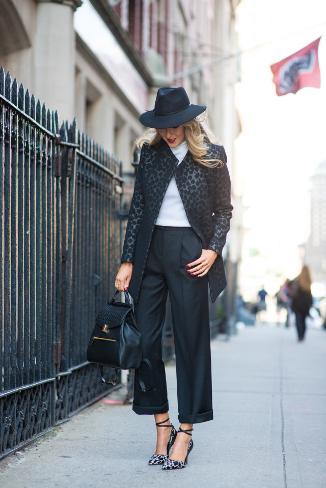 white-turtleneck-black-flare-pants-and-leopard-heels via