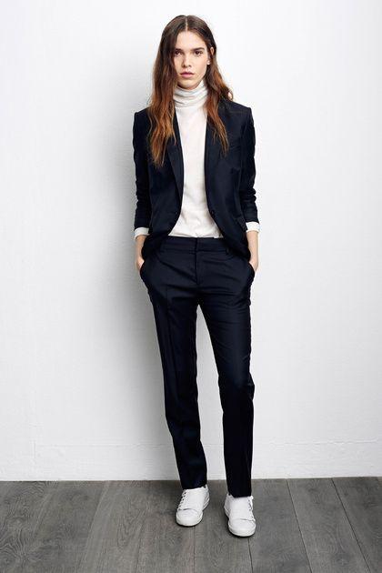 white-turtleneck-black-jacket-black-pants-and-white-shoe via
