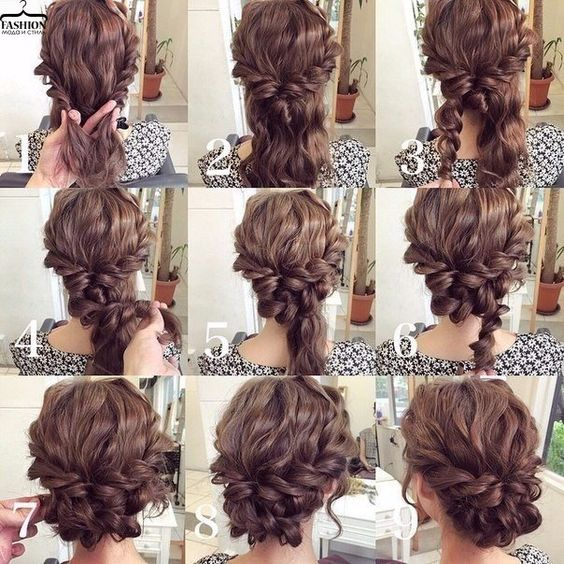 Step by Step Bun Updo Hair Tutorials