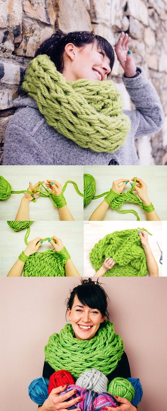 10 Hand Knitting Tutorials for Winter Huis  Armbreien