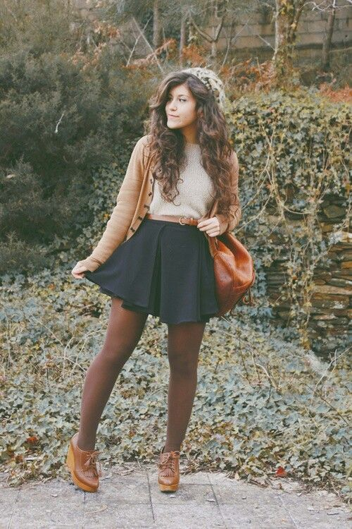 cardigan-and-skirt via