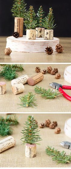 christmas-trees-with-wine-corks via
