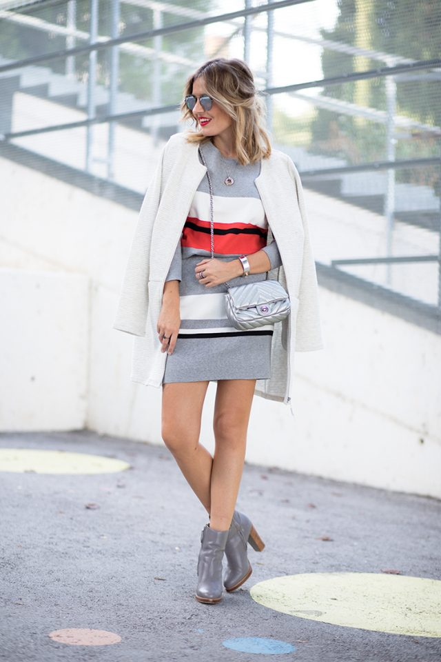 colored-block-dress-and-white-coat via