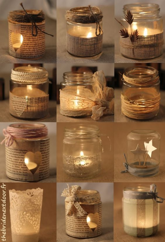 decorative-mason-jar-candle-holders via