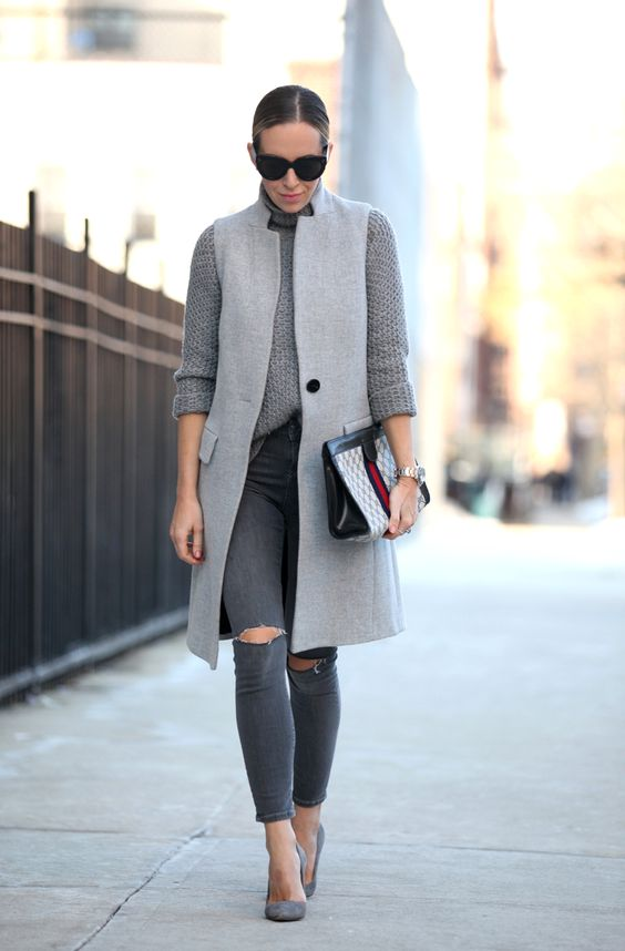 de071542a857 20 Ways to Add Grey to Winter Outfits - Pretty Designs