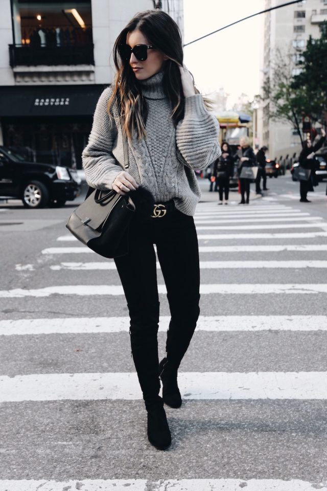 grey-sweater-and-skinny-pants via
