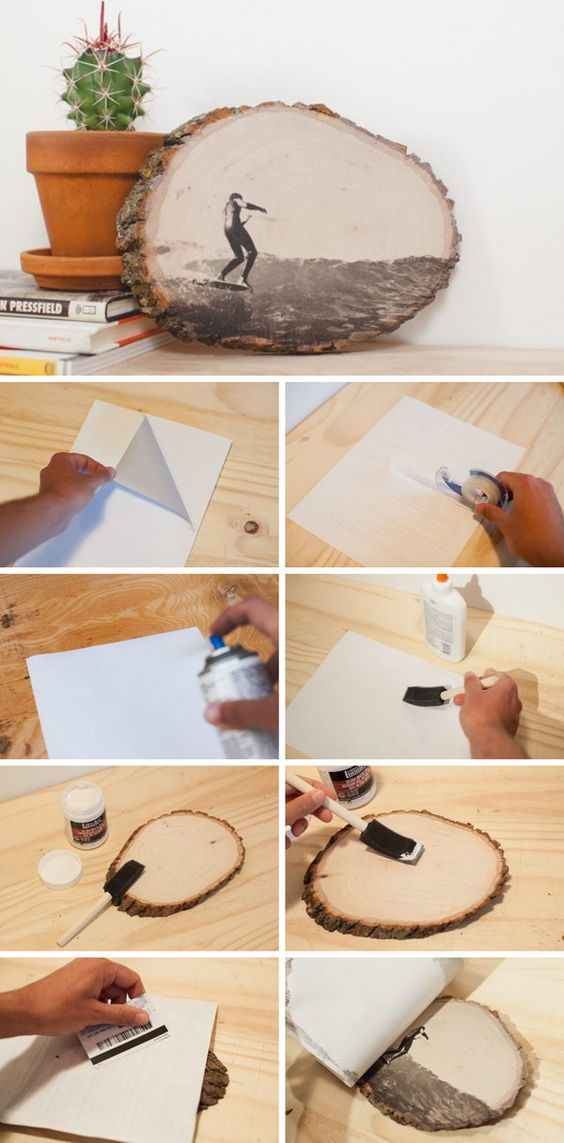 12 diy ideas to transfer photos to wood pretty designs. Black Bedroom Furniture Sets. Home Design Ideas