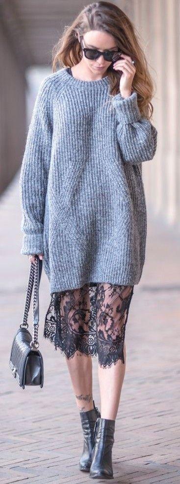 lace-and-knit-dress via