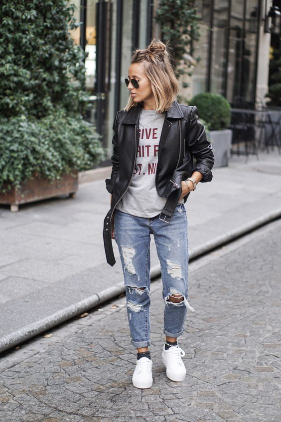 15 Outstanding Outfits With Your Boyfriend Jeans Pretty