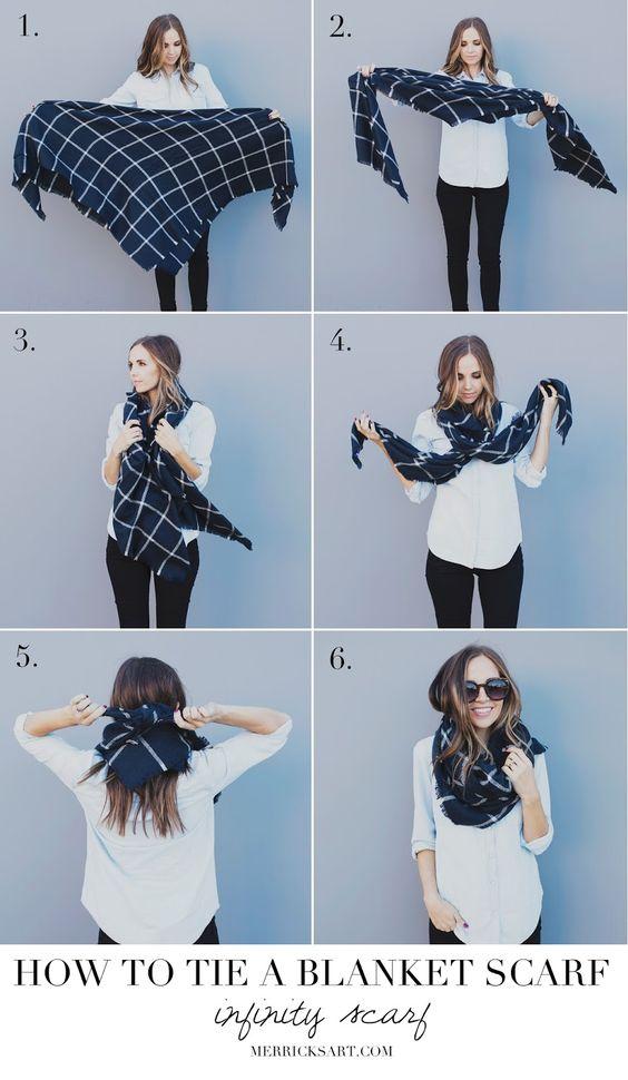 13 Ways To Wear Your Blanket Scarf Pretty Designs