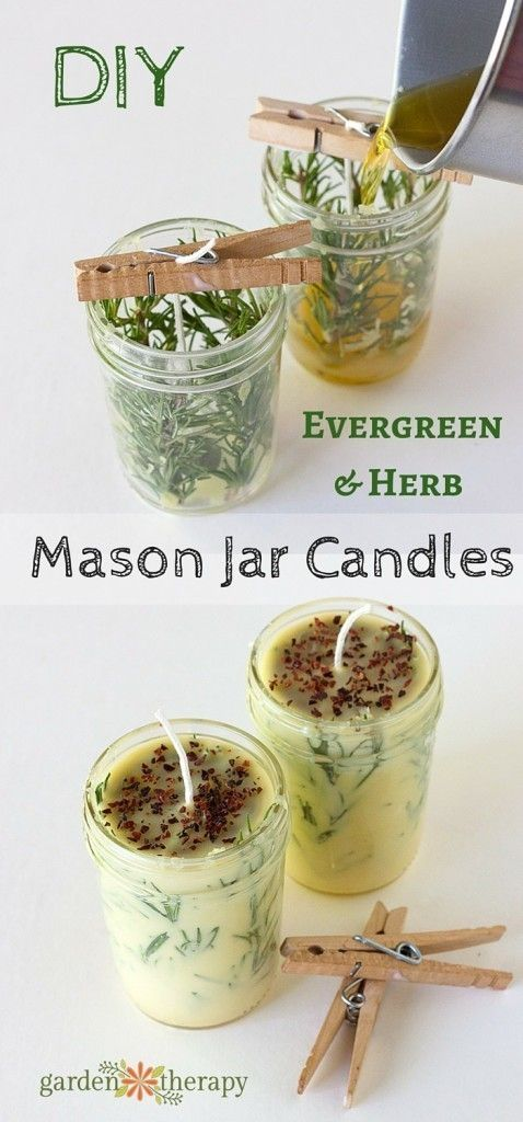 mason-jar-evergreen-herb-candles via