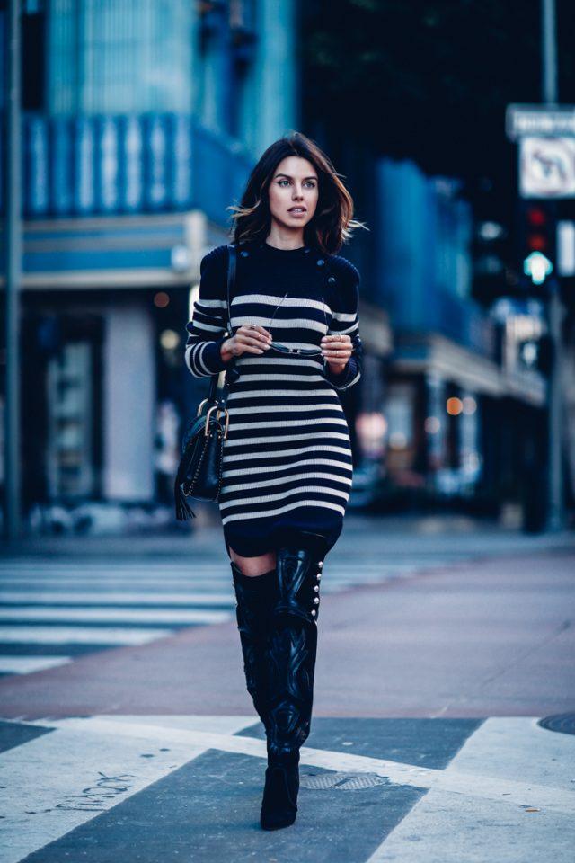 striped-dress via