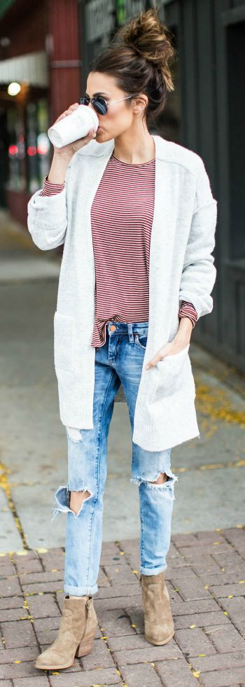 6f80d1e96c 15 Outstanding Outfits with Your Boyfriend Jeans - Pretty Designs