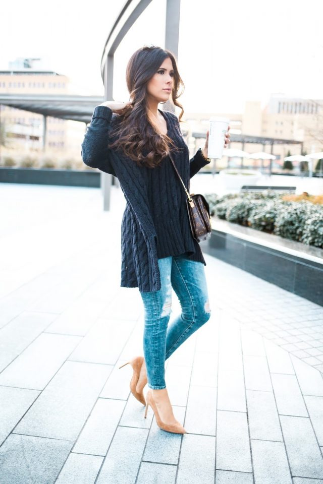 teal-sweater-and-jeans via