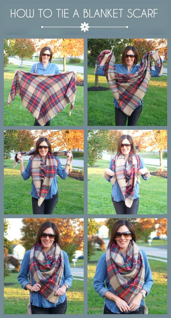 13 Ways To Wear Your Blanket Scarf Pretty Designs