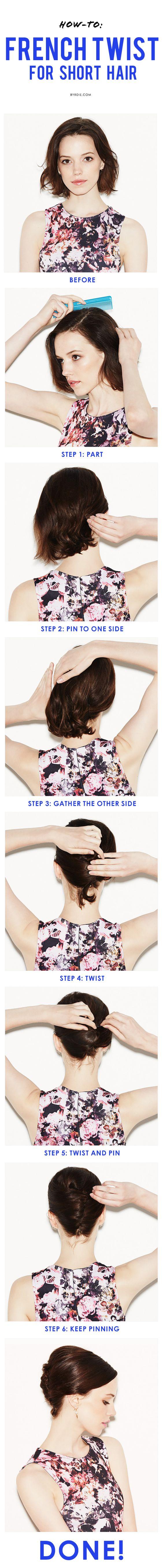 updo-for-short-hair via