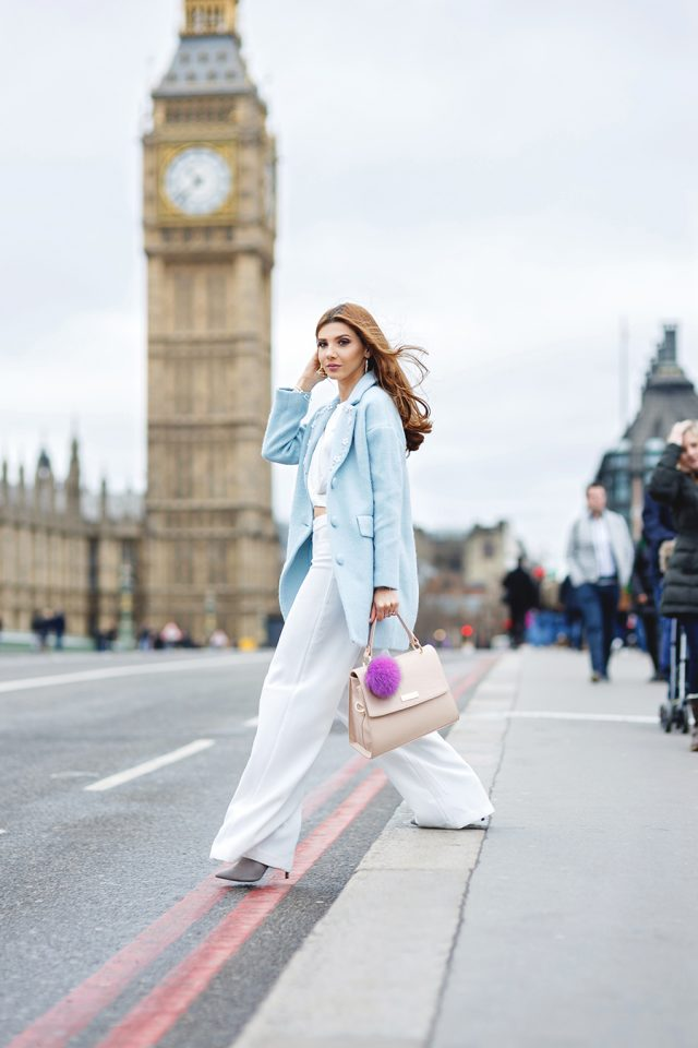 white-outfit-with-pale-blue-blazer via