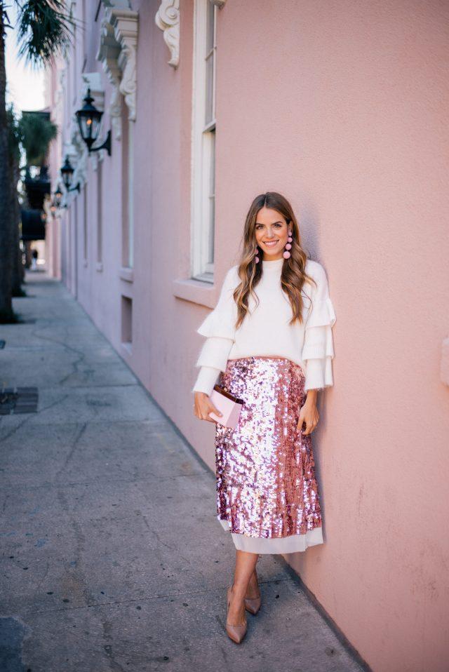 Sequin Skirt Dress