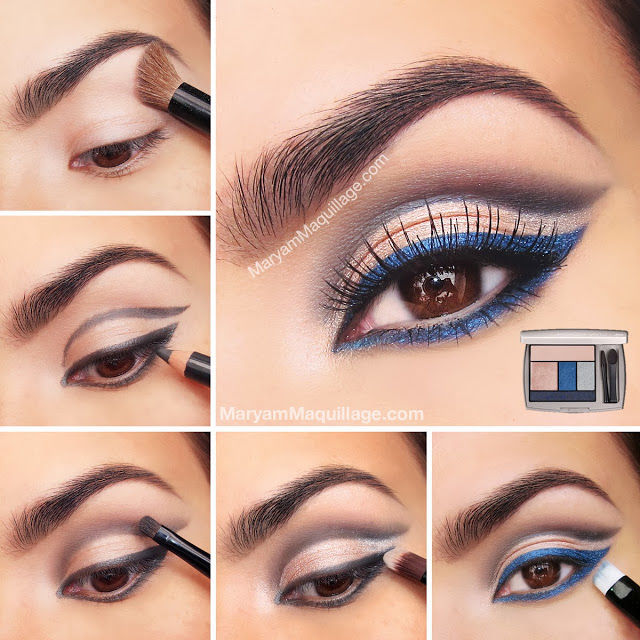 how to rock blue makeup looks 20 blue makeup ideas tutorials. Black Bedroom Furniture Sets. Home Design Ideas